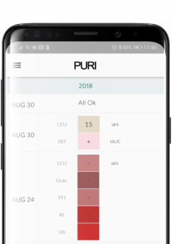 Track your results with the PURI Urinalysis App